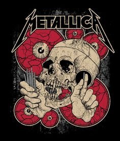 Your Guide To Our Rare Metallica Posters - Metal Hammer | Another Pushead original design, used as the inspiration for Metallica's Shortest Straw… T-shirt. Even more rare is the bespoke Shortest Straw shot glass and decanter set made available to MetClub members in 2008: only 179 of these bad boys were ever crafted.