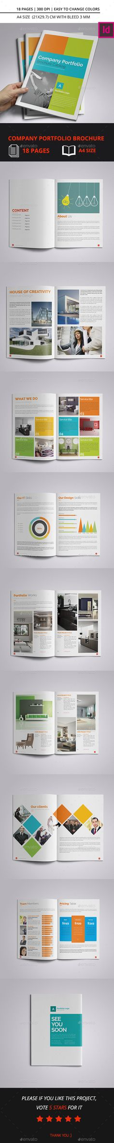Company Portfolio Brochure Catalog A4 Template InDesign INDD #design Download: http://graphicriver.net/item/company-portfolio-brochure-catalog-a4/14053948?ref=ksioks