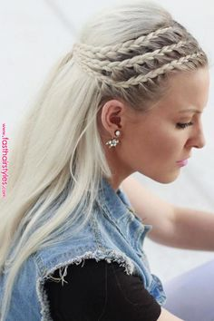 27 Elegant Side Braid Ideas To Style Your Long Hair « Fast Hairstyles Style your long Rapunzel hair with our elegant side braid ideas. Here you will find inspiration for your next braid, including crown and French braids. French Braid Hairstyles, Box Braids Hairstyles, French Braids, Wedding Hairstyles, Pretty Hairstyles, Hairstyles 2018, Dance Hairstyles, Romantic Hairstyles, Braid Hairstyles