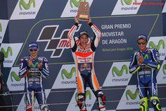 MotoGP第14戦アラゴン 表彰台