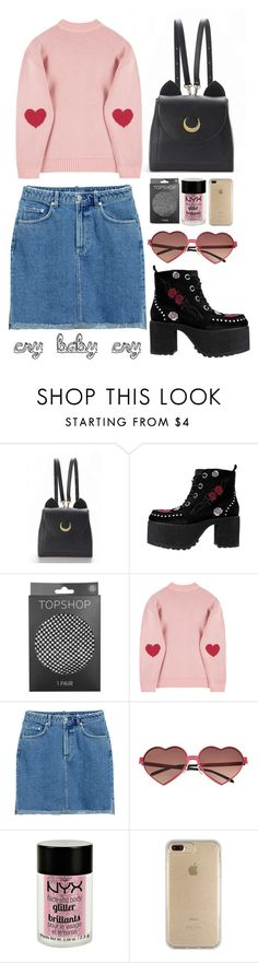 """cry baby cry"" by rosiee22 ❤ liked on Polyvore featuring WithChic, T.U.K., Topshop, H&M, Wildfox, Charlotte Russe and Speck"
