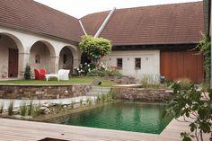 WOHNHAUS KAPELLEN - kramer und kramer Water Features In The Garden, Water Garden, Outdoor Decor, Life, Home Decor, Architecture, Plants, Homes, House