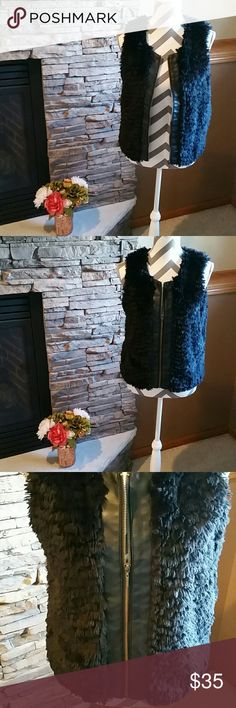 **Faux Fur Vest** Like new, super light weight, soft and adorable! Kensie Jackets & Coats