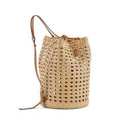 leather raffia bag from ermanno  scervino