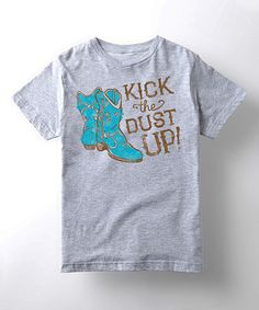 Loving this Athletic Heather 'Kick Up The Dust' Tee - Kids on #zulily! #zulilyfinds