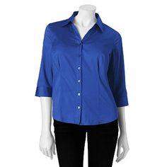 3057234f57 212 Collection Essential Shirt - Petite Kohls