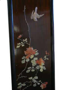 Chinese Color Stone Inlay Flower Bird Scenery Wall Panel Set VS954 | eBay