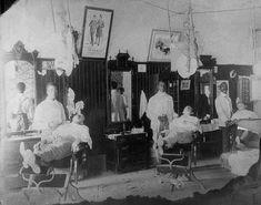 Image result for black man barbershop history