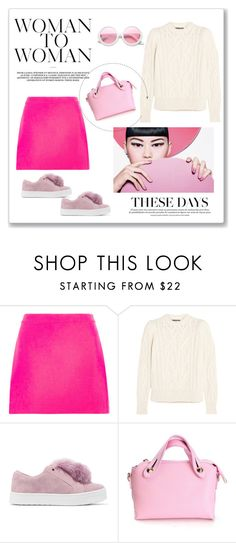 """""""Pink crush"""" by victoriav ❤ liked on Polyvore featuring Versace, Isabel Marant, Sam Edelman and ZeroUV"""