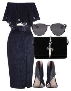 Untitled #395 by rhiannonkennedy on Polyvore featuring polyvore fashion style Chloé Zimmermann Cesare Paciotti Christian Dior clothing
