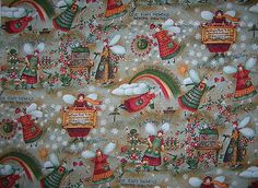 Carol Endres cotton fabric PEACE in the Country at auntiemeowsatticprims