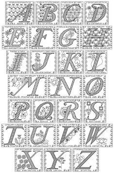 Blackwork Floral Alphabet Sampler Chart PDF by clairecrompton, £5.00