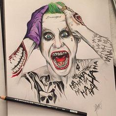 A joker drawing I drew a few months ago.. #joker #dc #batman #suicidesquad #jaredleto #drawing #drawings #draw #art #artist #colorful #scream #halloween #likes #follow #prismacolor #pencil #pencildrawing #sunday #share
