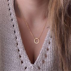 Fresh Teen Jewelry Fashion Circle Choker Necklace Short Chain