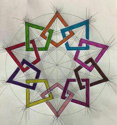 Home - School of Islamic Geometric Design - Huda Al-Hunaidi Geometric Patterns, Geometric Designs, Geometric Shapes, Islamic Art Pattern, Arabic Pattern, Pattern Art, Geometry Art, Sacred Geometry, Geometric Drawing