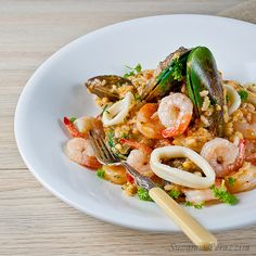 Seafood Risotto - minimal preparation, cooked in 30 minutes