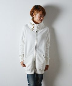 JohnBull's loop knit parka - I bought this in navy last year and adore it. I am going to change the buttons to RED!!!【新色追加!】オールドアスレチックロングパーカー