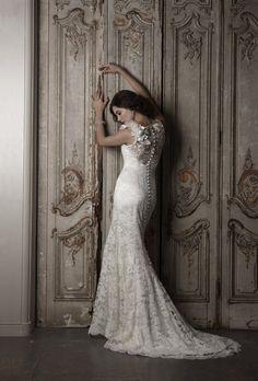 Lace detail on back wedding dress by Sassi Helford / Wedding Dresses 2013