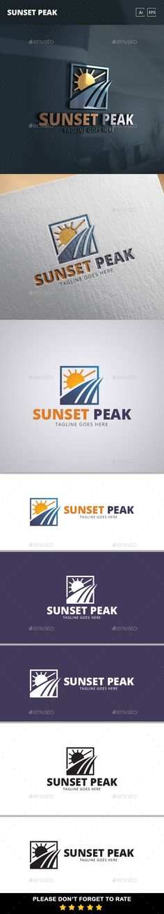 Sunset Peak Logo Template - Nature Logo Templates