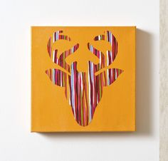 I could do several of these in different colors.  Sort of a Warhol influenced set of deer silhouettes for the basement
