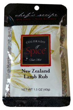 New Zealand Lamb Rub.  Check out our Chef's Lamb Stew Recipe!