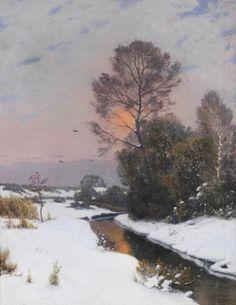 Winter landscape, 1903, Ivan Fedorovich Choultsé