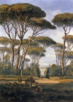 Edward Lear  Garden Of Villa Borghese 1840