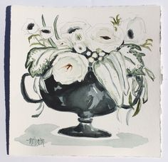 """Drama Queen"" by Amanda Norman. Via Well & Wonder Collective. Watercolor floral."