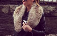 leather and fur  the perfect combination