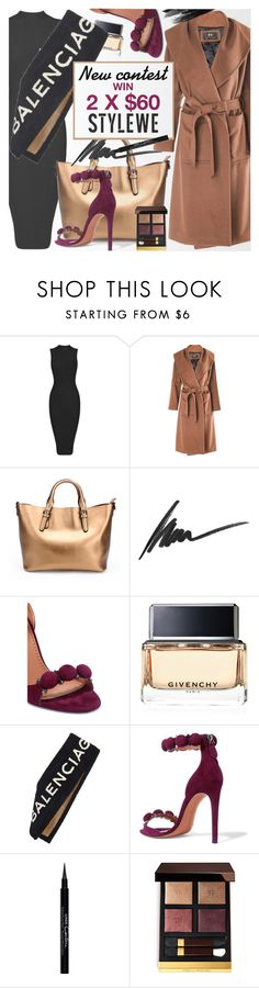 """""""STYLEWE outerwear for autumn!"""" by vn1ta ❤ liked on Polyvore featuring Max Factor, Alaïa, Givenchy, Balenciaga and Tom Ford"""