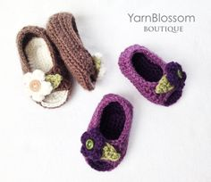 CROCHET PATTERN Peek-a-boo Baby Shoes 4 por YarnBlossomBoutique