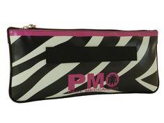 Pochette Paul Meccanico fantasia zebrata black and white con un tocco di colore fuxia.