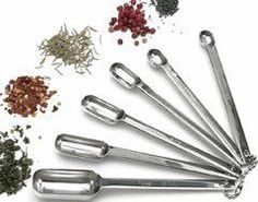 """No more struggling with spice jars and spilling all over your food or countertops. These stainless-steel spoons feature 4"""" handles and narrow bowls to fit easily into any spice container. Offers both"""