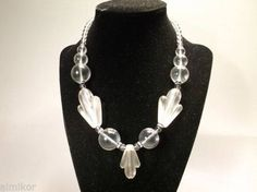 """Vintage Lucite Necklace. Beautiful. 16"""" long by almikor on Etsy"""