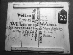 "Deco-bord: ""Welkom"" | Karin's Deco Atelier"