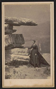 Unknown woman in mourning at Lookout Mountain, TN