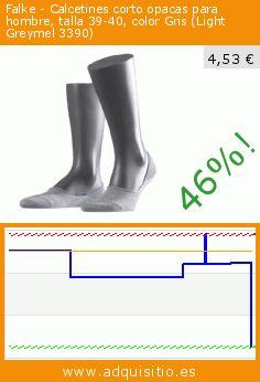 Falke - Calcetines corto opacas para hombre, talla 39-40, color Gris (Light Greymel 3390) (Ropa). Baja 46%! Precio actual 4,53 €, el precio anterior fue de 8,44 €. https://www.adquisitio.es/falke/calcetines-corto-opacas-8