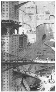 Biron, Paris Futur, 1910- ANTI-VITRUV & SUPER-BRUNELLESCHI