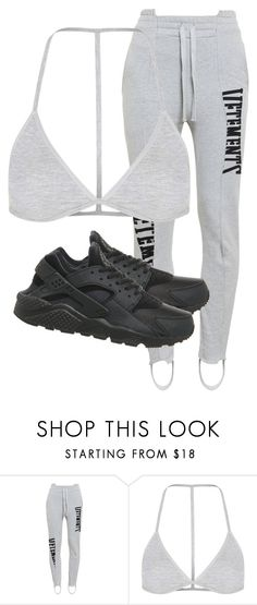 """Untitled #2922"" by xirix ❤ liked on Polyvore featuring Vetements, Topshop and NIKE"