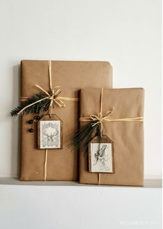 Christmas Gift Wrapping - DIY Wood Gift Tags Spruce up your Christmas gift wrapping with these quick DIY wood gift tags. Customize them to fit your style and take your gift wrapping up a notch. Creative Gifts For Boyfriend, Boyfriend Gifts, Christmas Gift Wrapping, Diy Christmas Gifts, Santa Gifts, Christmas Christmas, Holiday Gifts, Christmas Ideas, Elegant Christmas