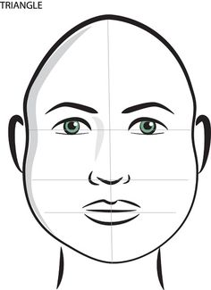 triangle shaped face A triangle shaped face has a wide jawline and a narrow forehead and is the most uncommon of face shapes.Short hairstyles with lots of volume and curl can look great with this face shape but be careful not to add to much bulk or volume to the top of the head.