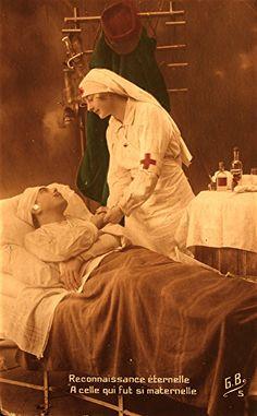 """Französische Postkarte, 1914-1918: """"Ewige Dankbarkeit, jener die so mütterlich war"""" #WW1 #ersterWeltkrieg #WWI #anno1914"""
