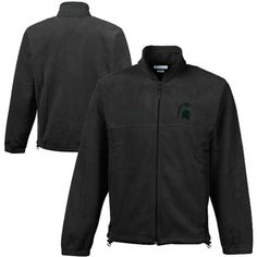 Men's Columbia Green Michigan State Spartans Flanker II Full-Zip Fleece Jacket