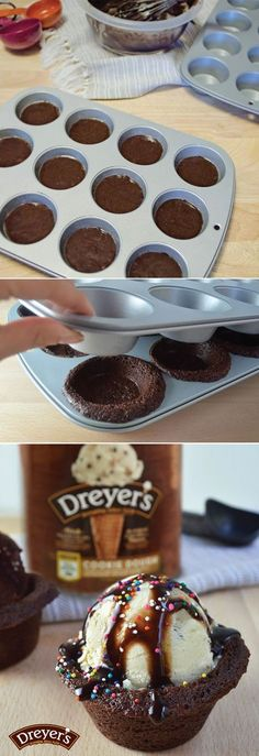 Here's an easy way to push your already extraordinary Dreyer's ice cream sundae over the top – a fresh-baked brownie bowl. And the best part about this easy dessert recipe? You don't have to wash the bowl since you get to eat it! Talk about the perfect chocolatey treat for summer.