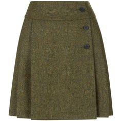 Hobbs Kerys Skirt (€89) ❤ liked on Polyvore featuring skirts, knee length pleated skirt, brown pleated skirt, maxi skirts, pattern pleated skirt and mini skirts