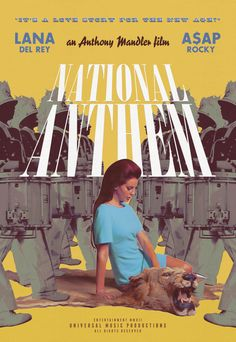 ♡ Lana Del Rey ♡ National Anthem movie poster for the music video Room Posters, Poster Wall, Poster Prints, Movie Posters, Film Poster, Theatre Posters, National Anthem Music, Wall Prints, Framed Art Prints