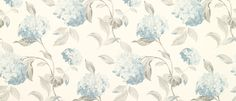 Hydrangea Duck Egg Floral Wallpaper at Laura Ashley