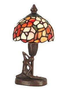Dale Tiffany Lamps Dale Tiffany TA11014 Mini Dogwood Table Lamp, Antique Bronze