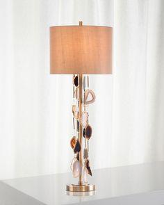 JOHN-RICHARD Falling Genuine Agate Table Lamp $795 - FREE SHIPPING OR PICK UP