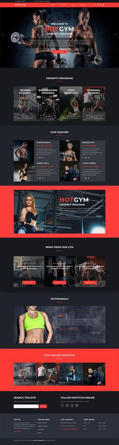 The Hot #Gym is a #responsive #Joomla template suitable for CrossFit studios, gyms, bodybuilding clubs, and websites for similar purposes. Bodybuilding Club, Joomla Templates, Video Background, Dark Colors, Accent Colors, Crossfit, Coaching, Studios, Exercise